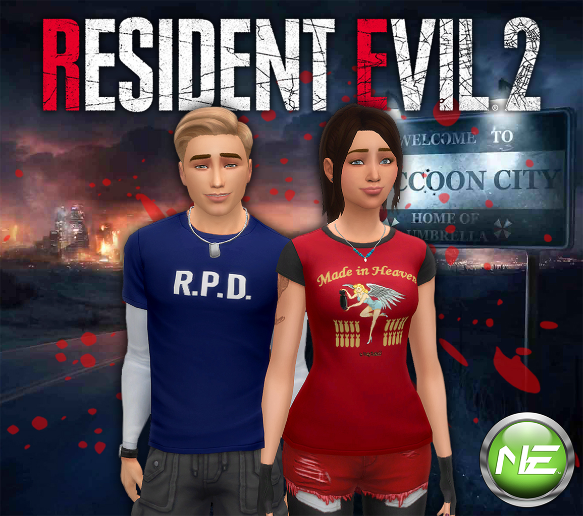 Mod The Sims - Resident Evil 2 T-Shirts - 9 Designs In 3 Colors - YM