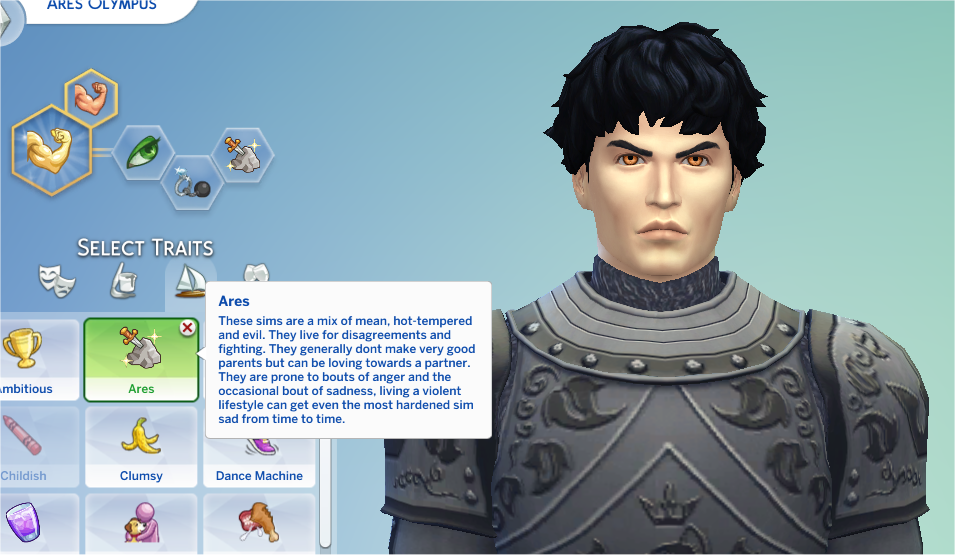 Mod The Sims - Ares Trait