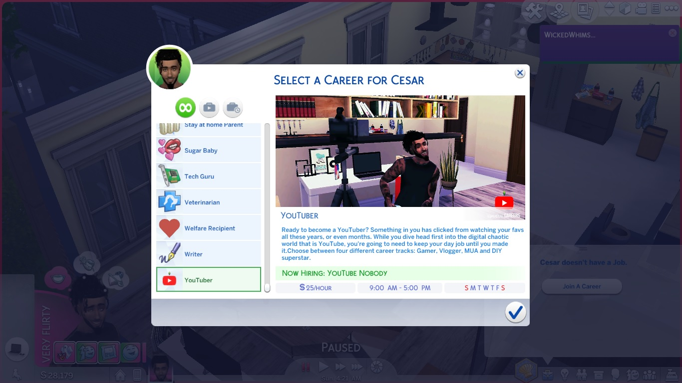 Mod The Sims - {UPDATED GET FAMOUS 12/16/18} YouTuber Career