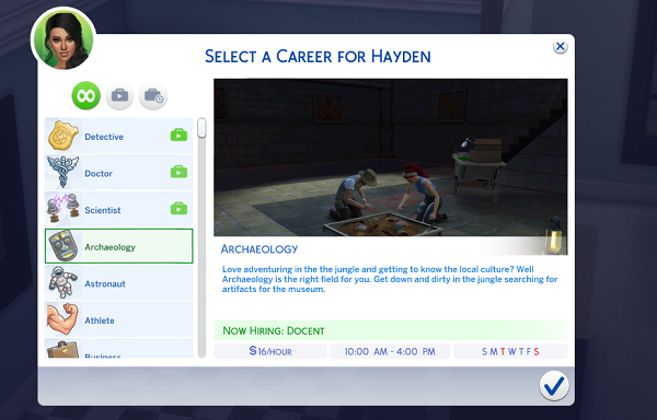 Mod The Sims - {UPDATE} Archaeology Career
