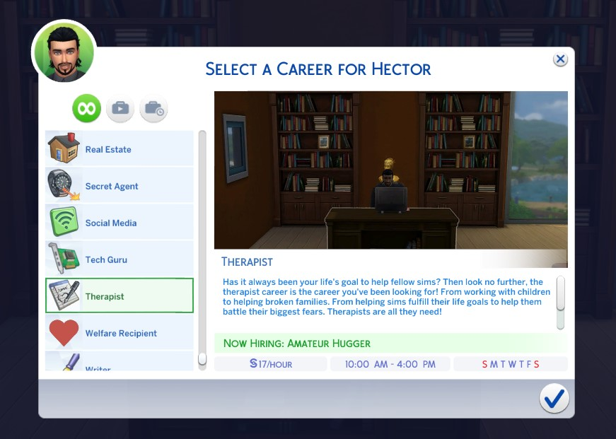 Mod The Sims - Therapist Career - Updated 24 June 2019