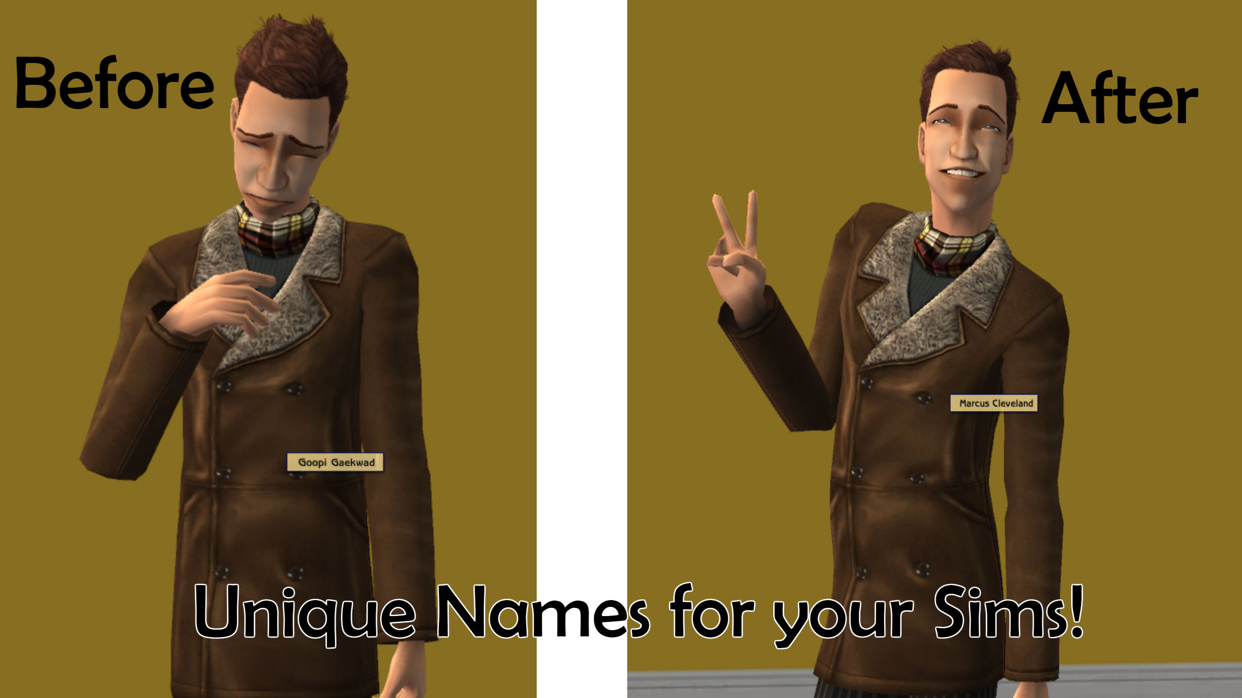 Mod The Sims - Unique Names For Townies!
