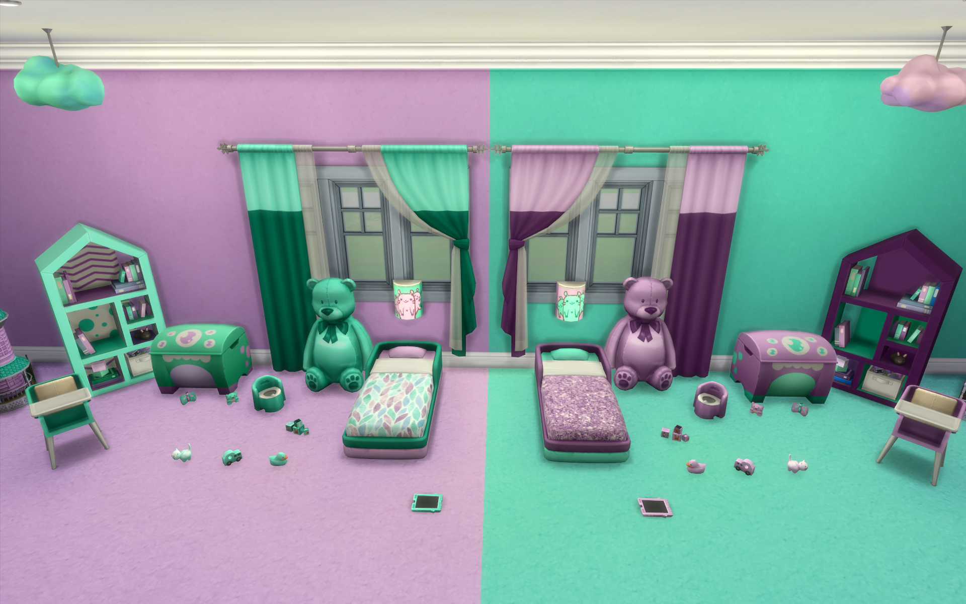 Mod The Sims Mermaid Toddler Room Set Base Game Recolor