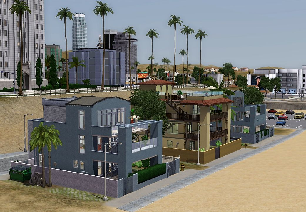 Mod The Sims - From GTA 5: Del Perro Beach houses