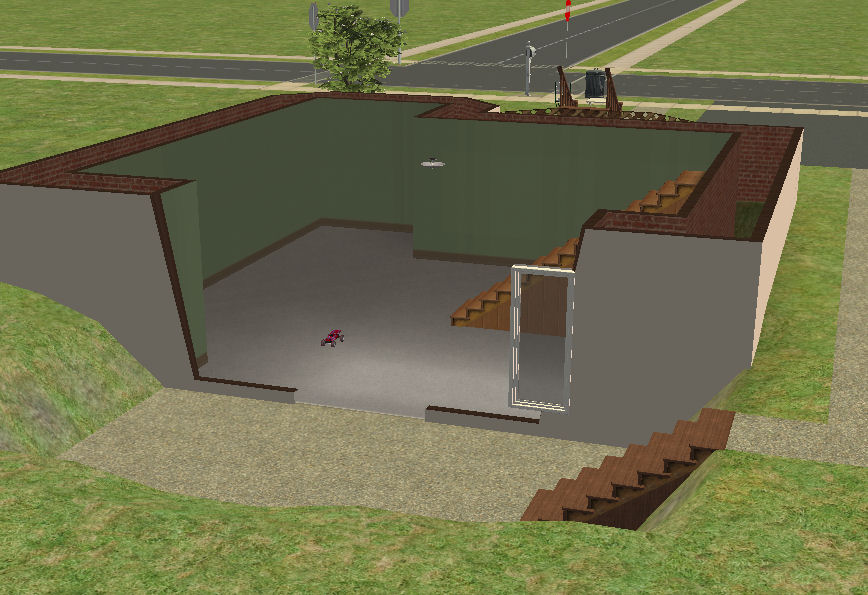 Mod the sims 1 bdrm cape with walkout basement large for What is a walkout basement