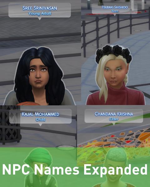 Mod The Sims - NPC Names Expanded