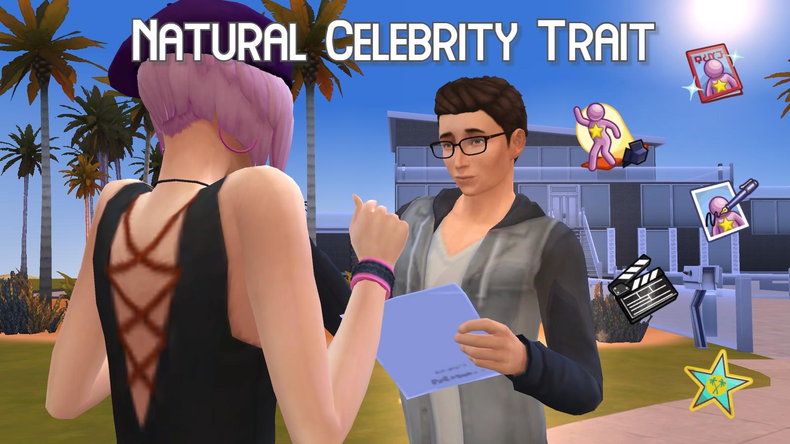Мод Природная черта знаменитости для Sims 4