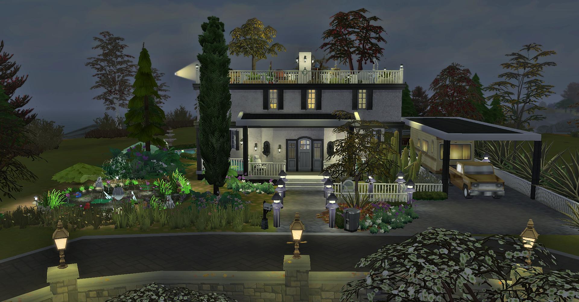 Двухэтажный дом с садом на крыше