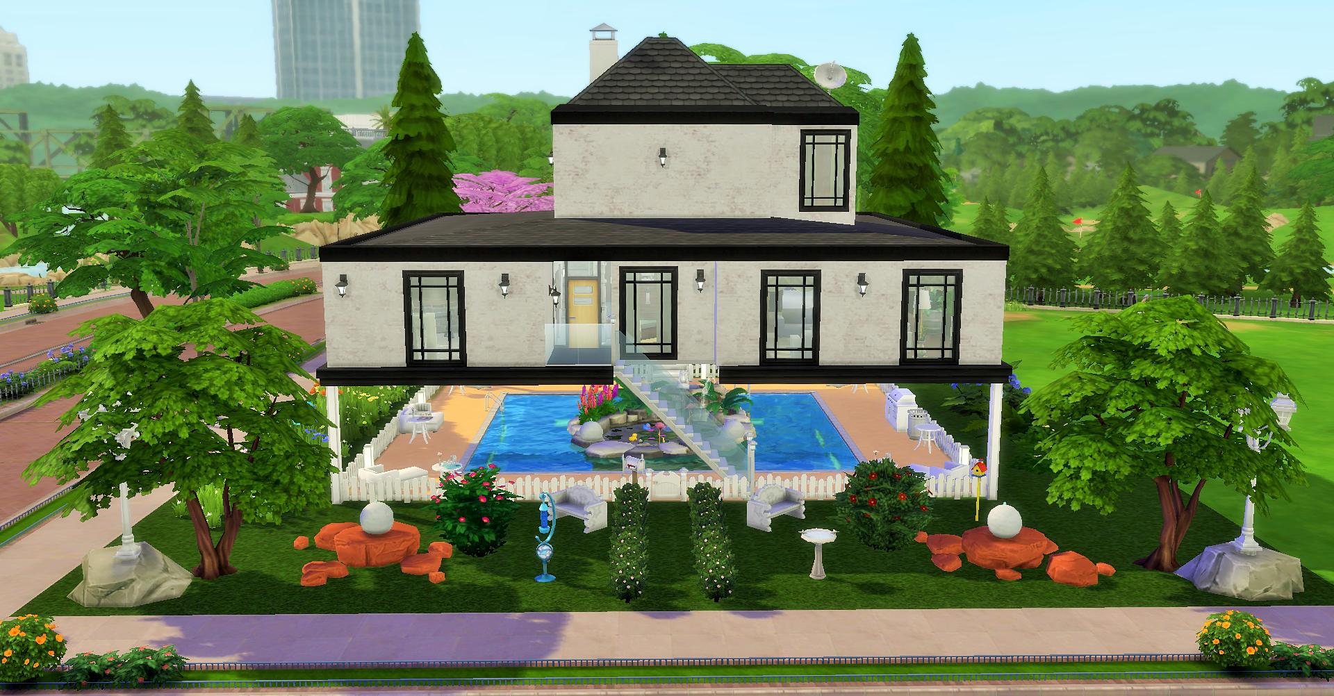 Дом над бассейном