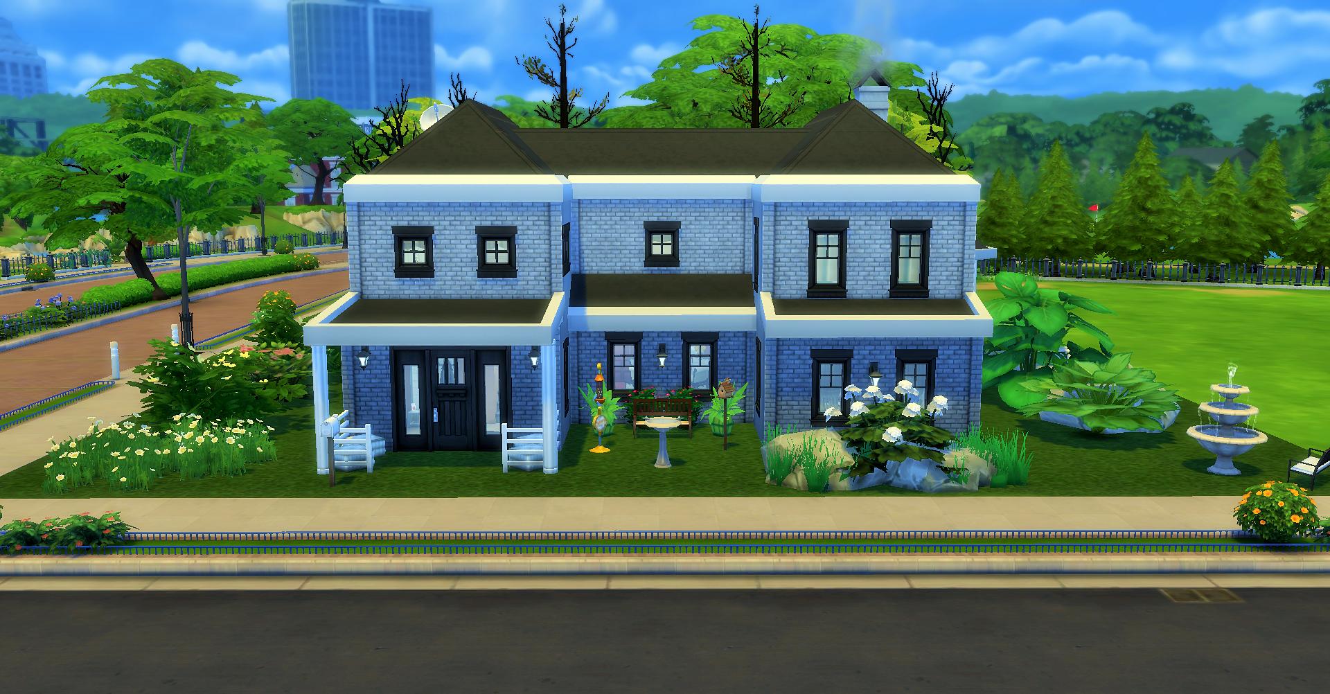 Двухэтажный дом для семьи