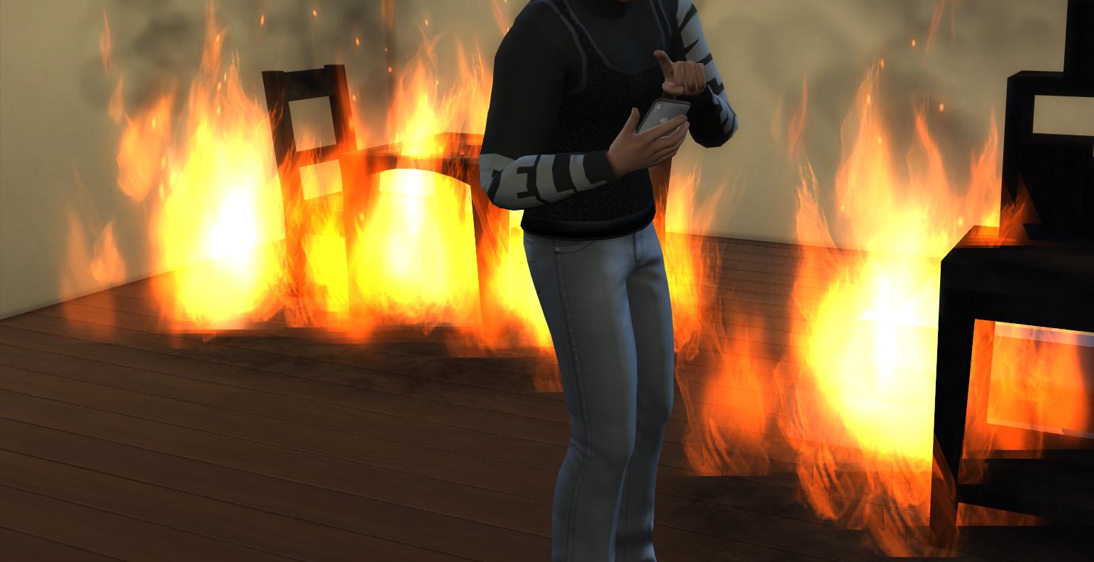 Мод Используйте телефон во время пожаров
