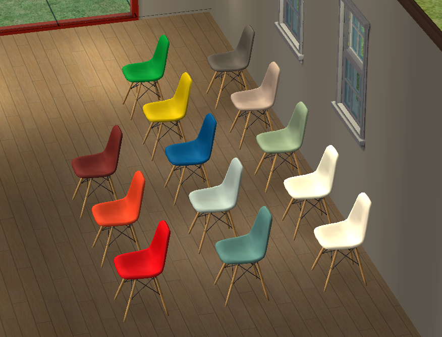 About A Chair 12 Side Chair.Mod The Sims 12 Recolors Of Pocci S Eames Shell Side Chair
