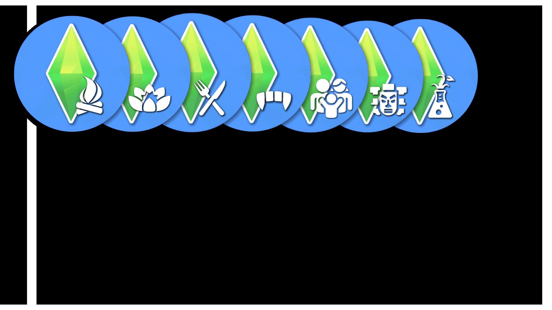 Мод Sims 4 Game Pack, иконки для рабочего стола