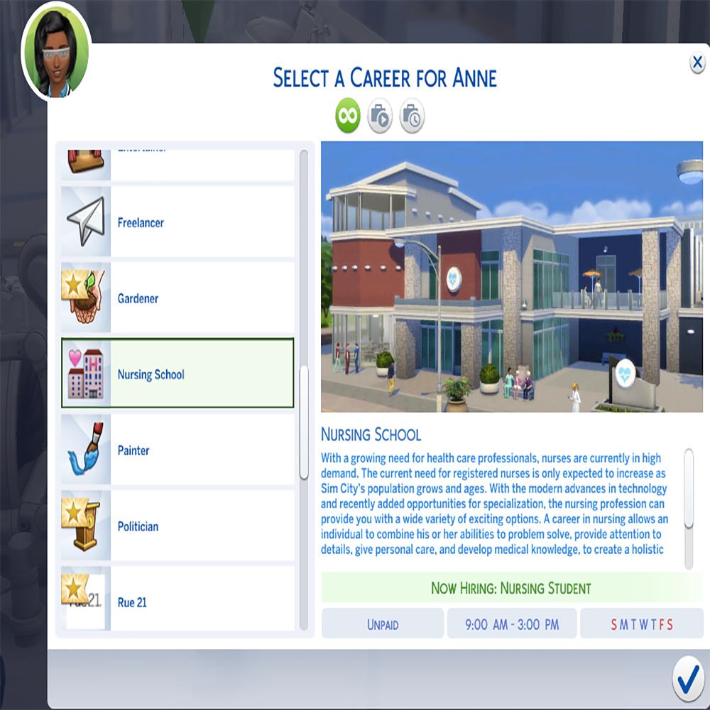 Мод Симс 4 Медсестра Карьера