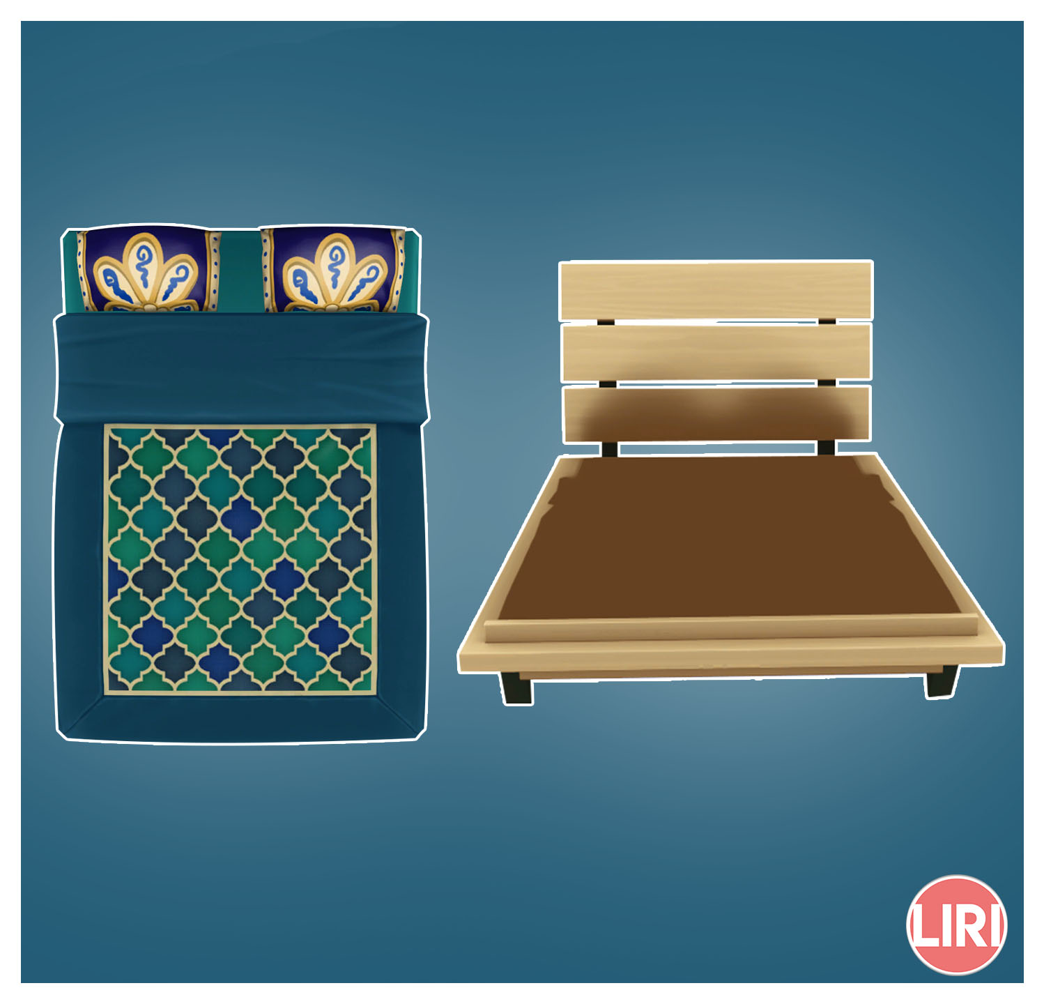 Mod The Sims Double Futon Bed Separated