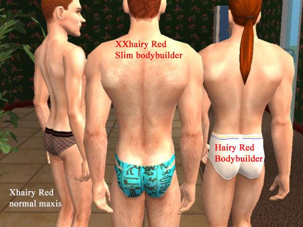 Slim hairy redheads