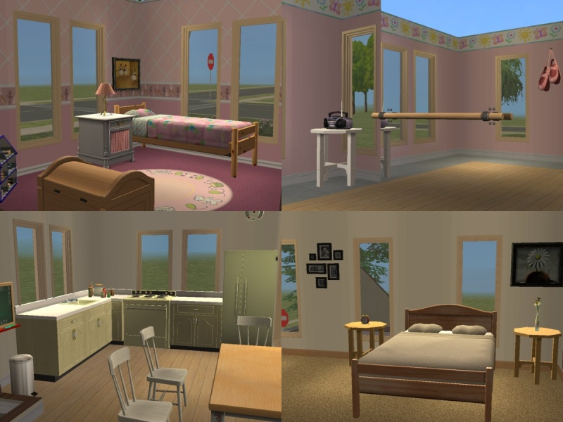Mod the sims 3 bedroom home w dance studio no cc for Sims interior designs 1