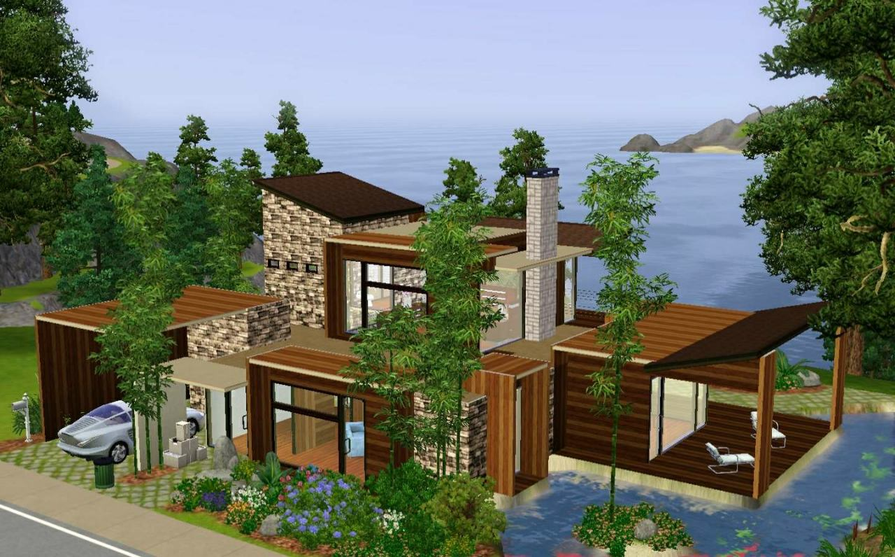 Mod the sims natural modern for 3 4 house