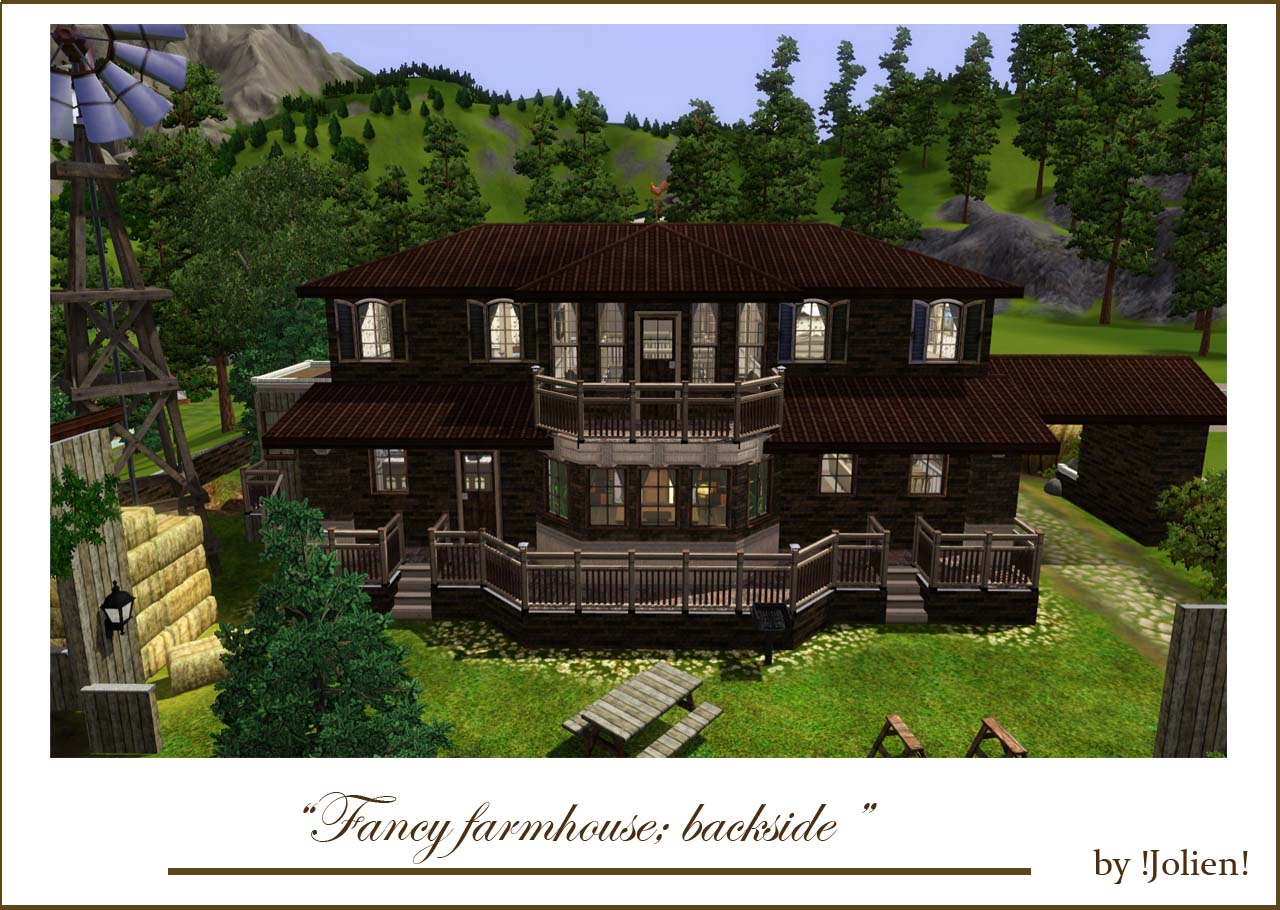 mod the sims fancy farmhouse no cc ForFancy Farmhouse