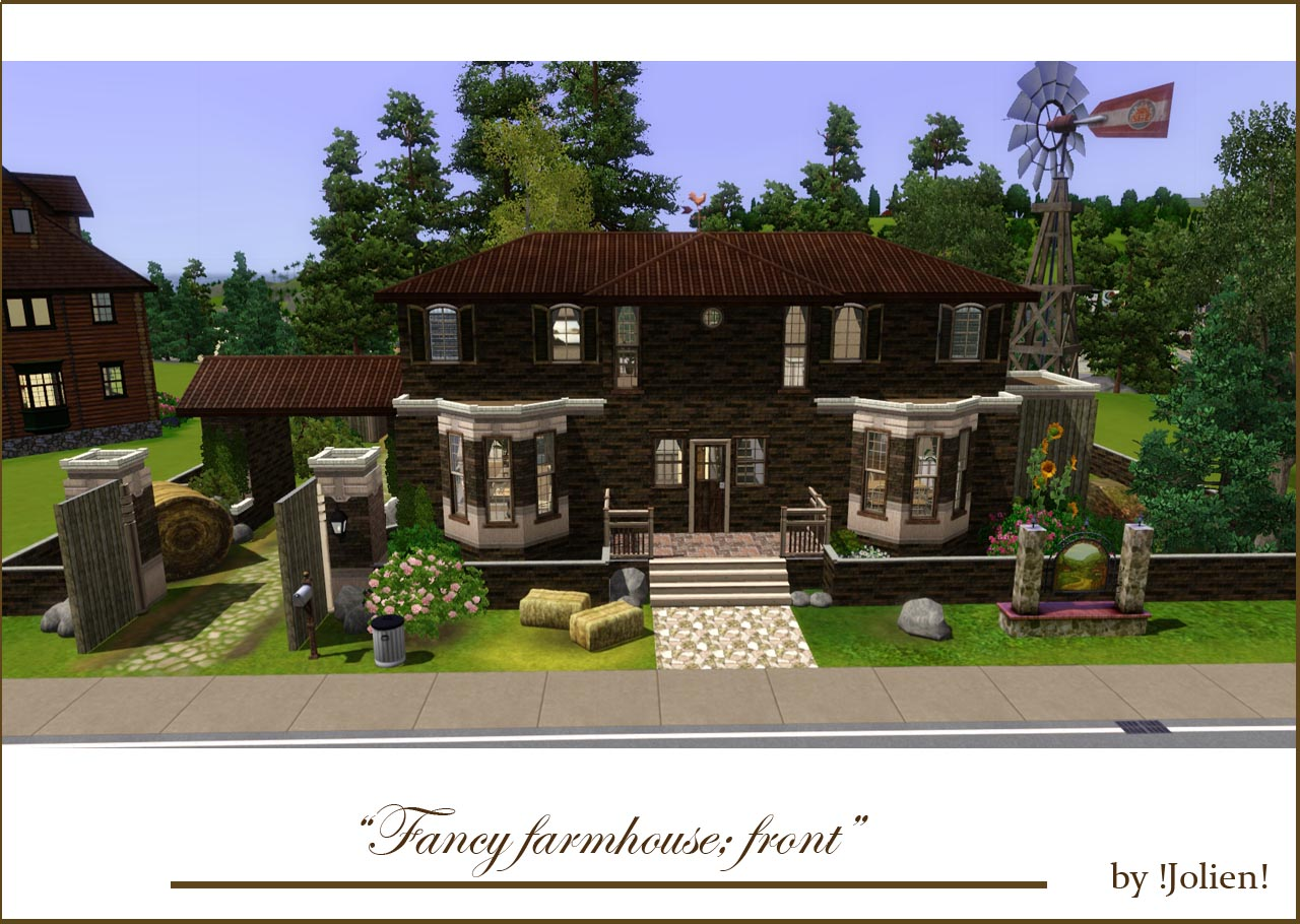 mod the sims fancy farmhouse no cc