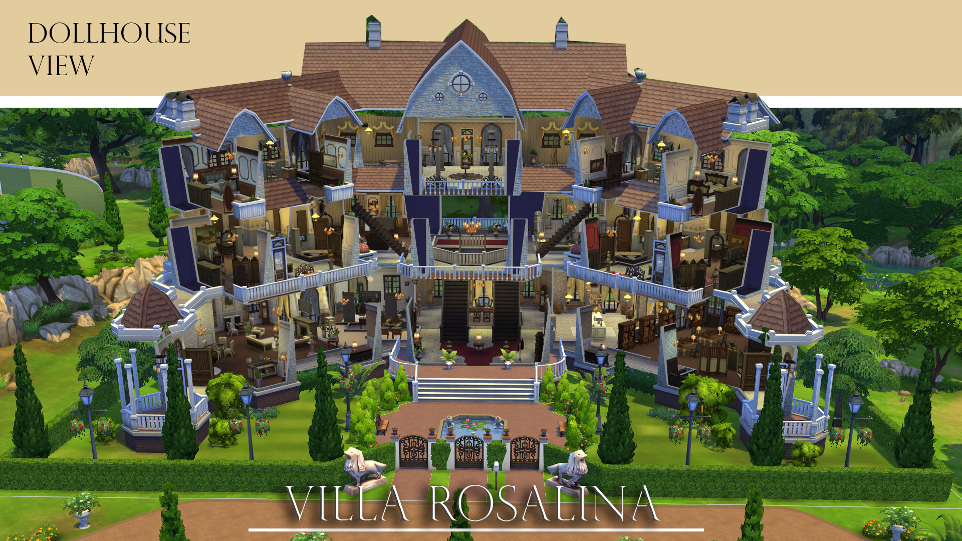 Sims  Villa In The Wood