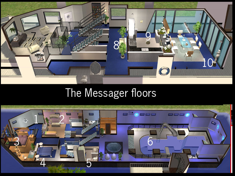 mod the sims ship the messager with swimming pool