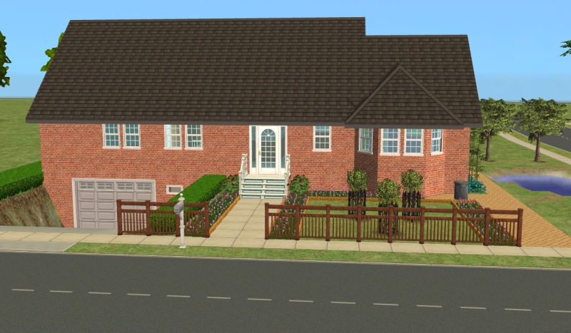Mod the sims 23 central drive house with basement for House in garage