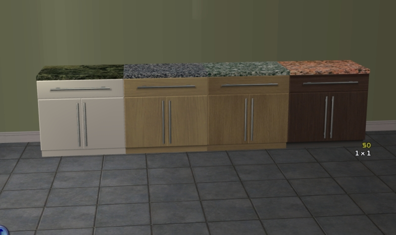 Mod The Sims Kitchen Basic Counter Top Recolours