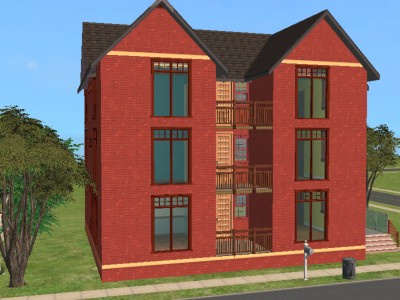 mod the sims red brick apartments