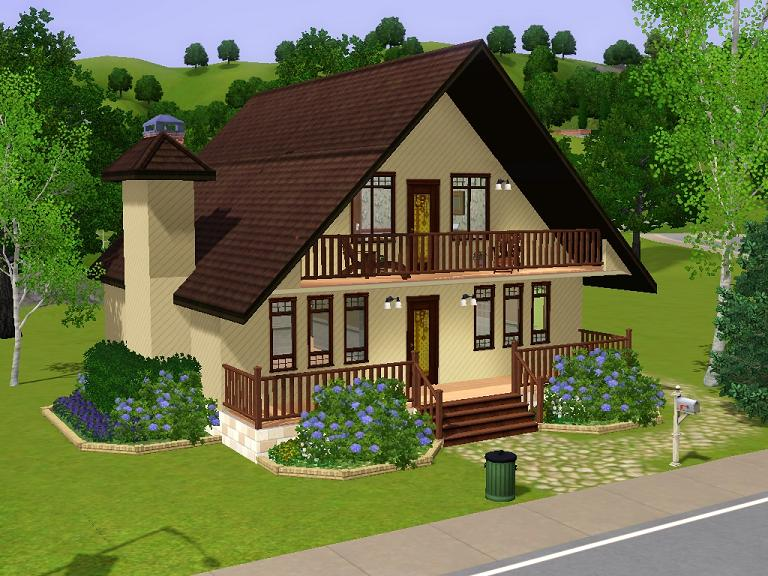 Mod The Sims 18 Maywood Lane Based On Real Home Plan