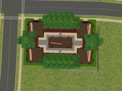 Mod the sims pagoda family compound five pagodas for Family compound floor plans