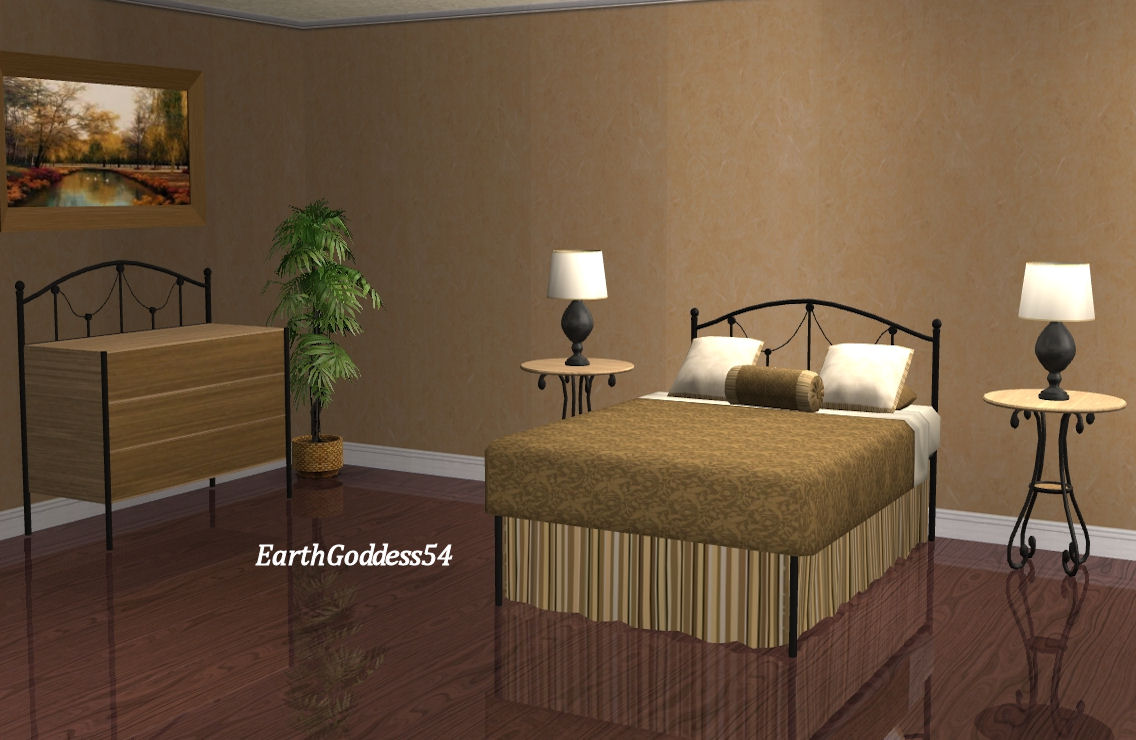 Mod The Sims - New Meshes: Delicate Wrought Iron Bedroom