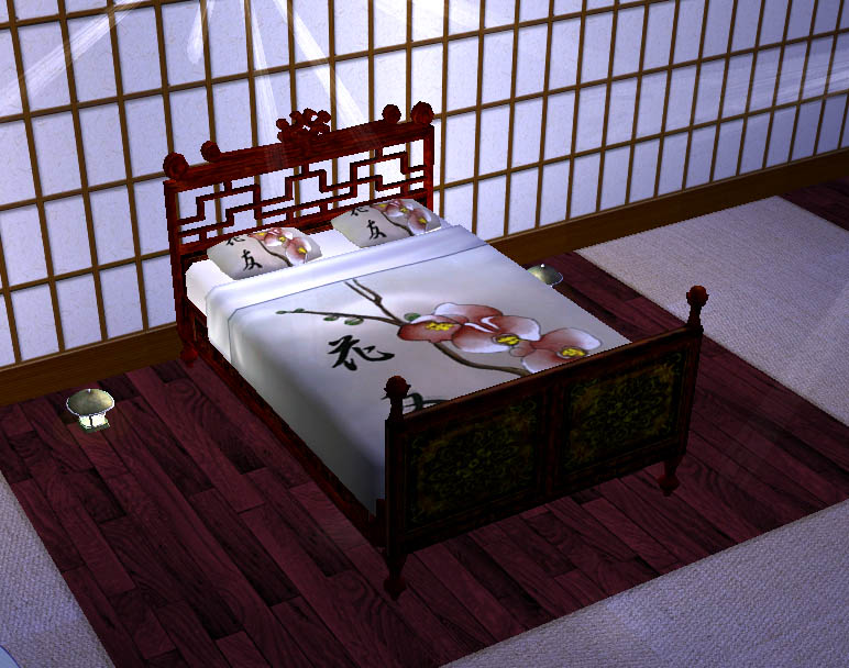 mod the sims - japanese flowers bed