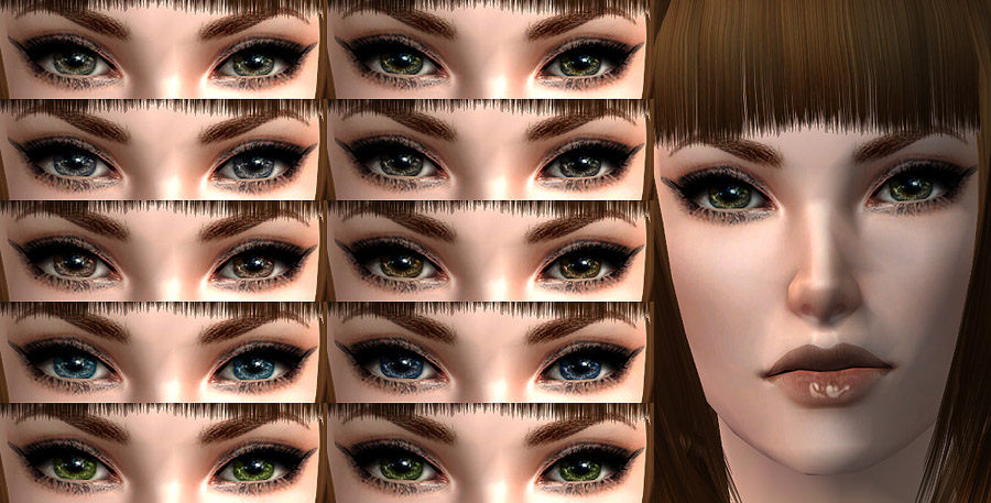Mod The Sims - 4 more eye sets