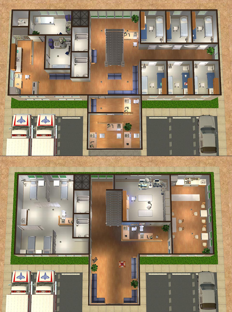 Mod The Sims Medical Buildings Renovate Along With Your