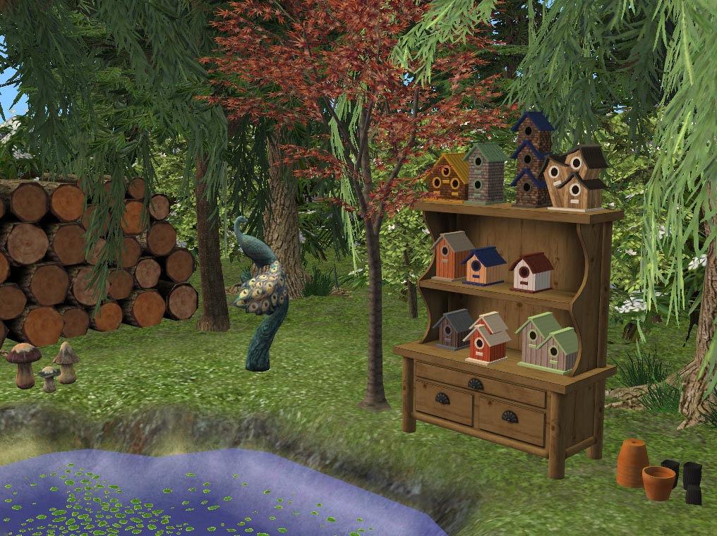 Mod the sims itty bitty birdhouses decorative maxis for Indoor gardening sims 4