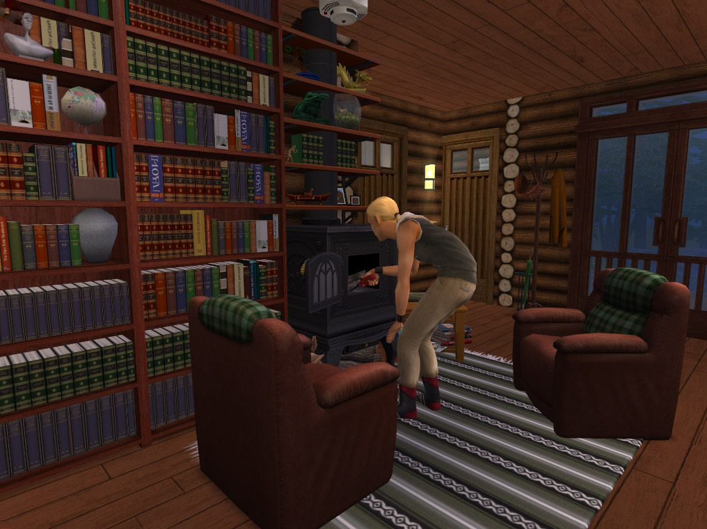 Mod The Sims - -Foundation Challenge- Log Cabin by the Lake
