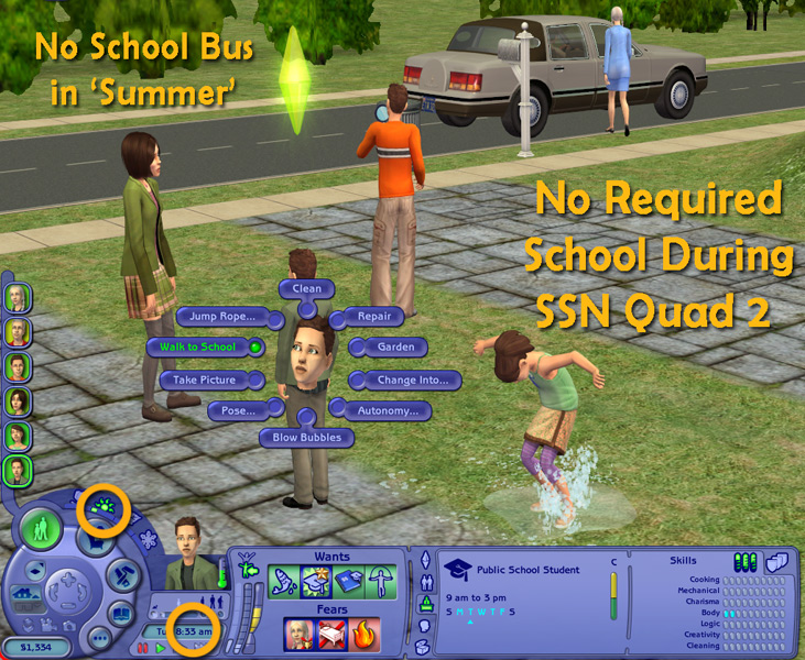 Mod The Sims - 'Let Kids Be Kids' - Lifespan and School