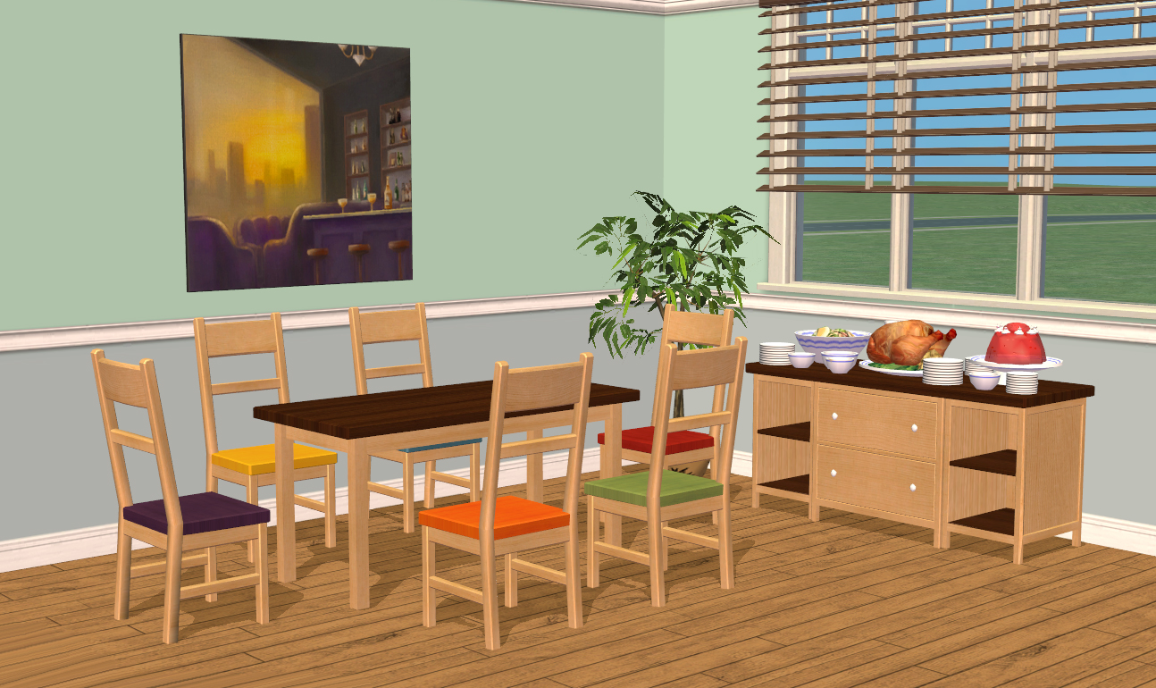 Mod the sims smallhouse models dining room set for Drawing room pics