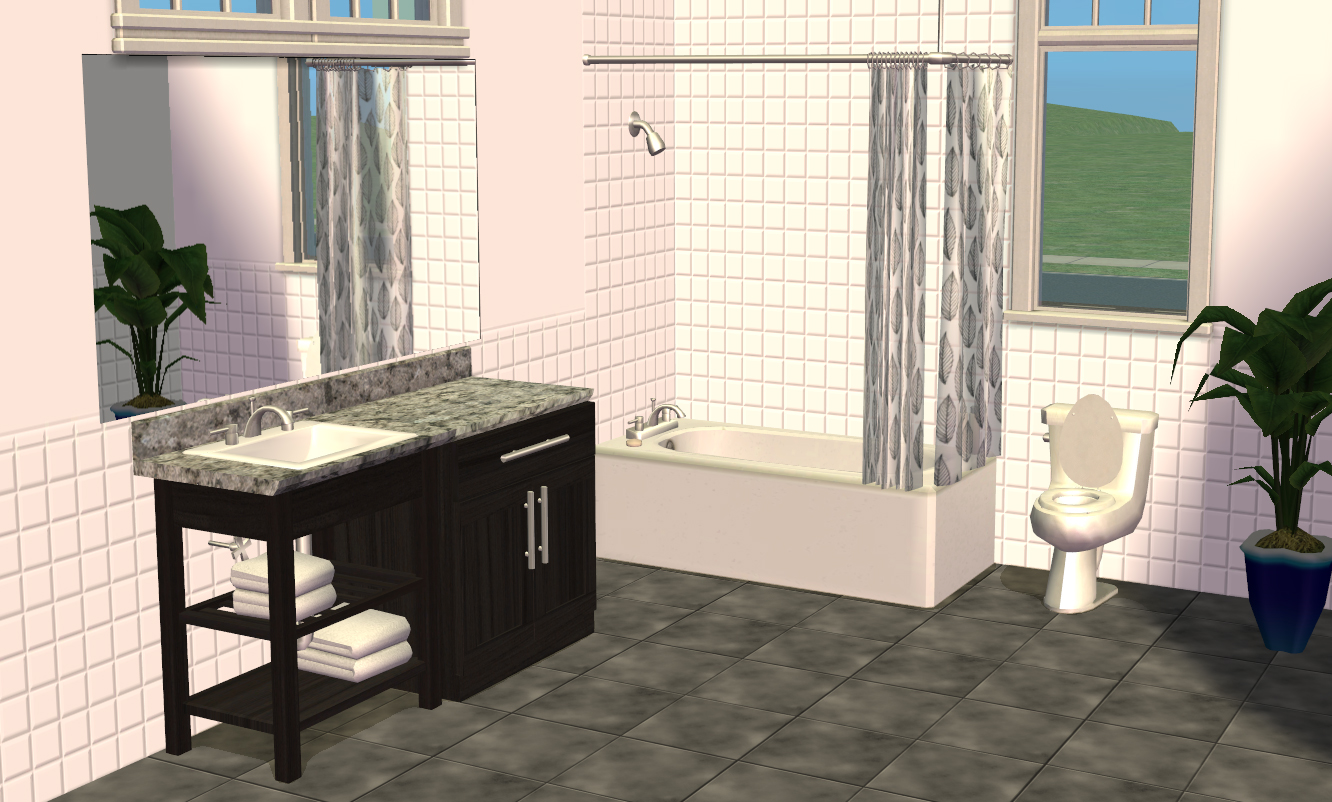 Mod The Sims Smallhouse Models Bathroom Set