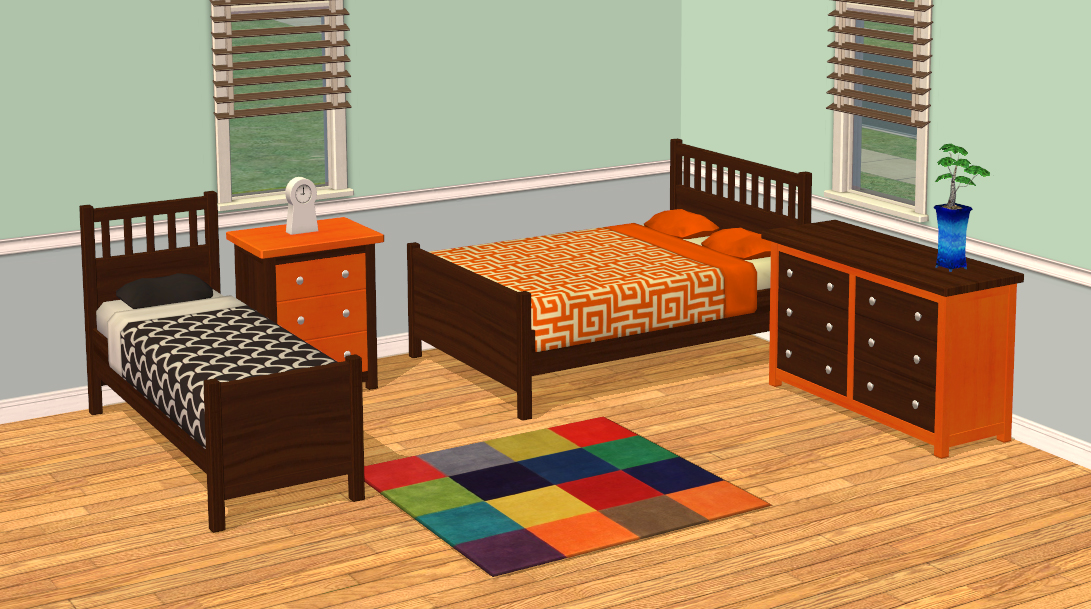 Mod The Sims - Smallhouse Models Bedroom Set