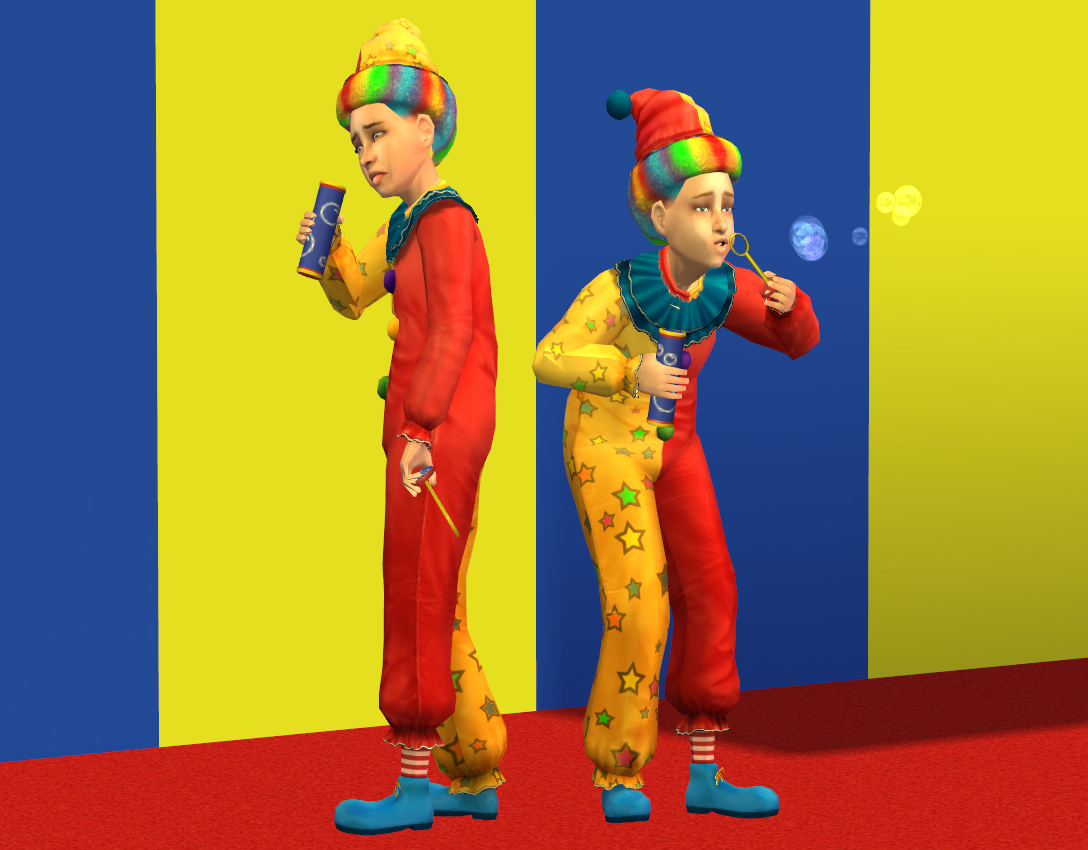 Mod The Sims Kiddie Clowns Ft Clown For Tots And Kids