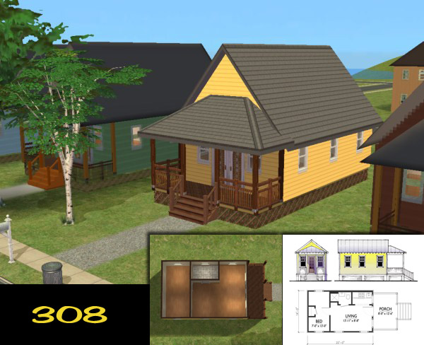 Mod the sims 39 katrina cottages 39 homes for your post for Where can i buy a katrina cottage