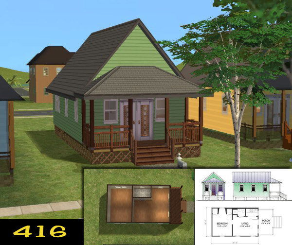 Mod the sims 39 katrina cottages 39 homes for your post for Katrina cottages
