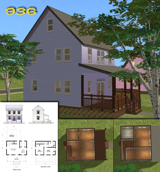 Mod the sims 39 katrina cottages 39 homes for your post for Katrina homes