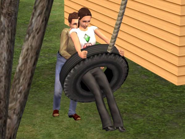 mod  sims  tire swing swing  basegame   bv treehouse