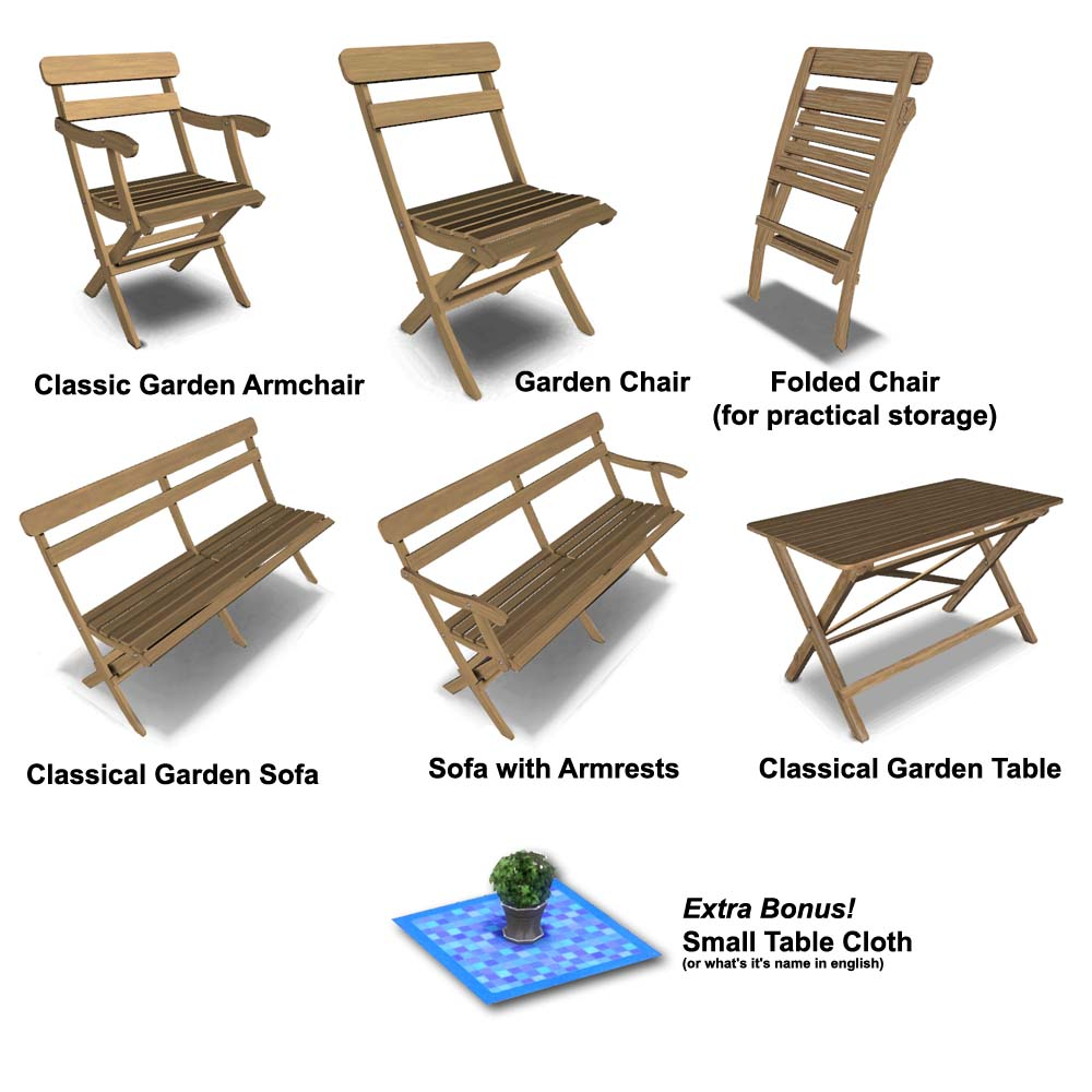 Garden Furniture S mod the sims - classic outdoor furniture