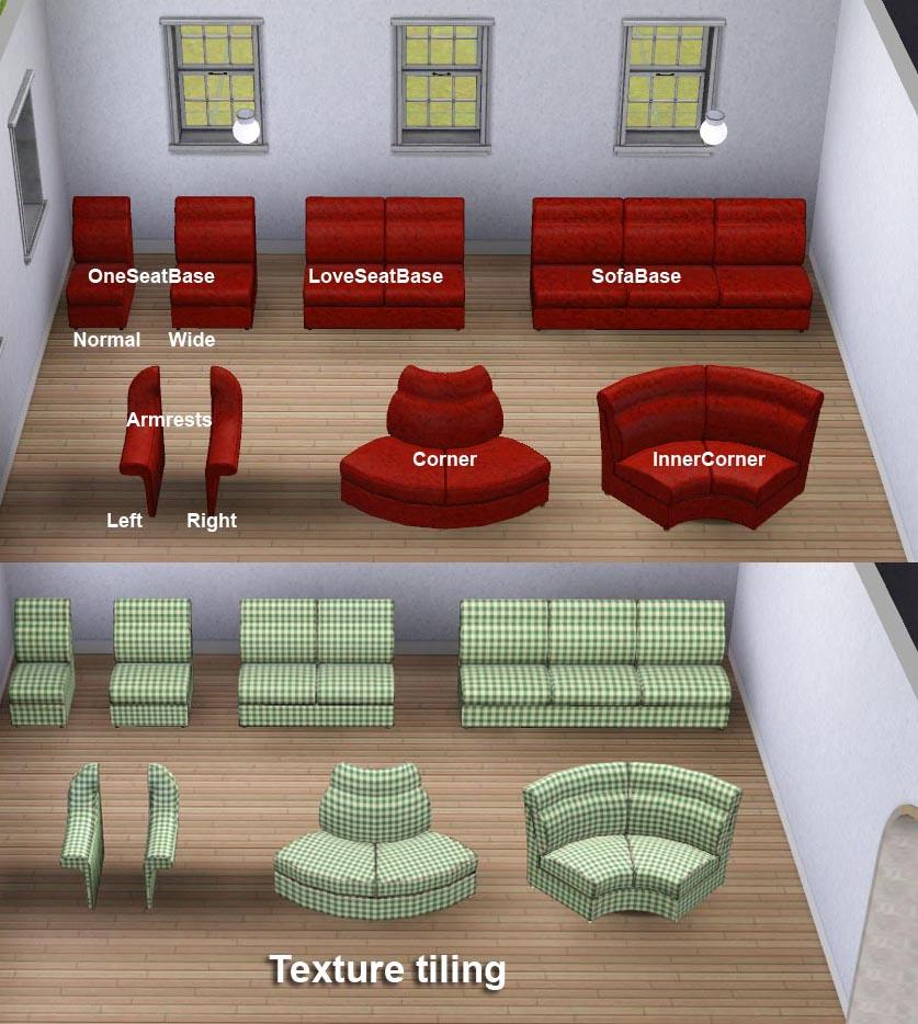 Mod The Sims Modular Sofa