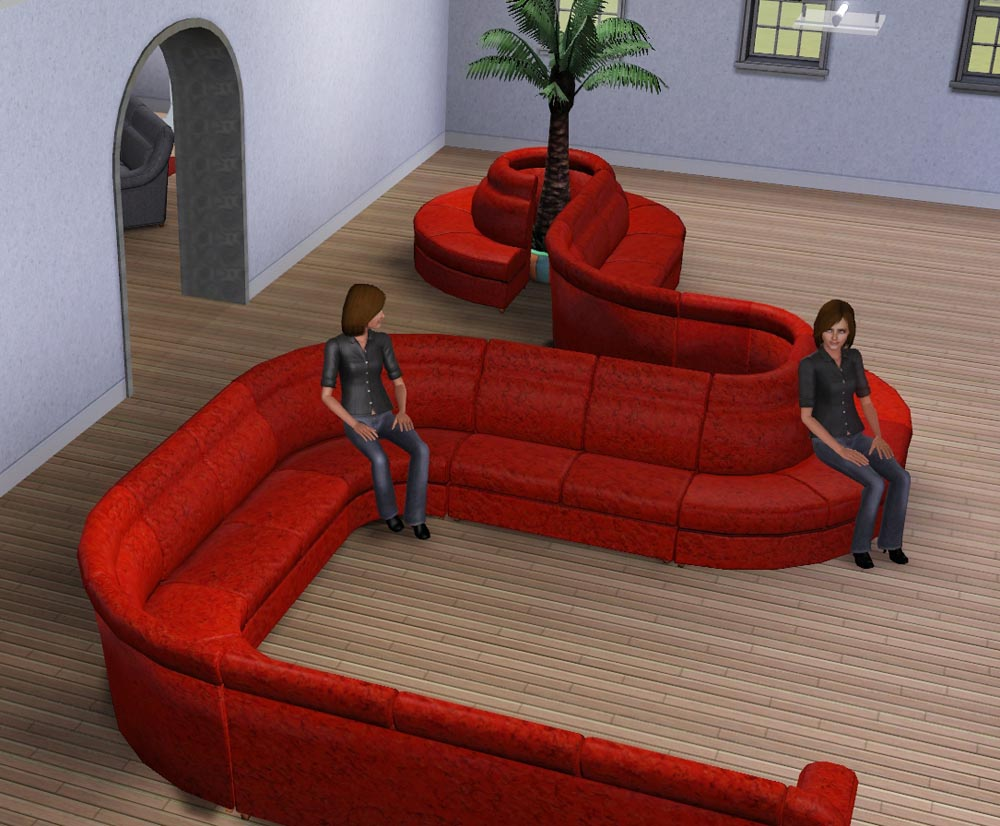 Mod the sims modular sofa for 3 on a couch