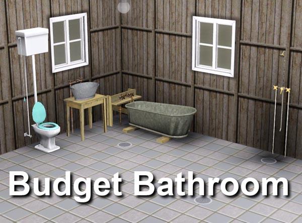 Mod The Sims Budget Bathroom - Budget bathroom flooring